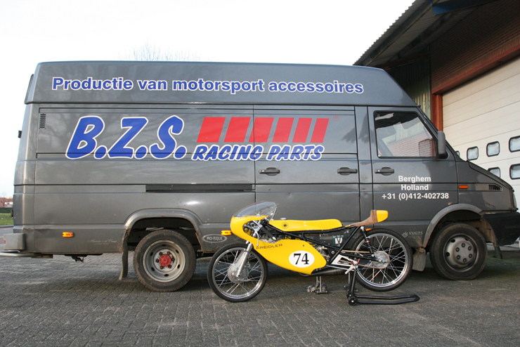 B.Z.S. racing parts bus